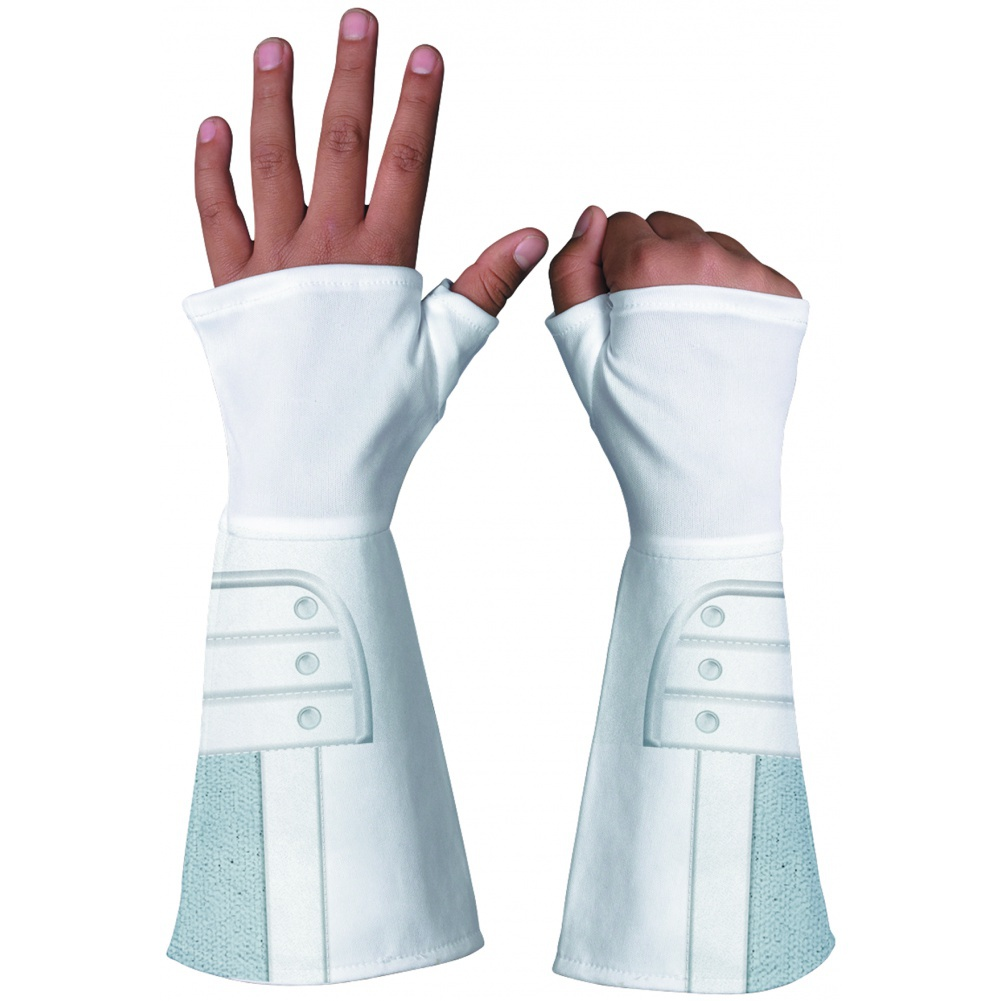 sc 1 st  7th Avenue Costumes & Storm Shadow Deluxe Gloves White Ninja Costume