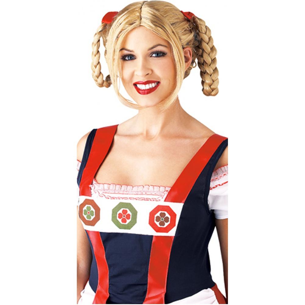 milkmaid wig german beer girl swiss heidi blonde braids costume
