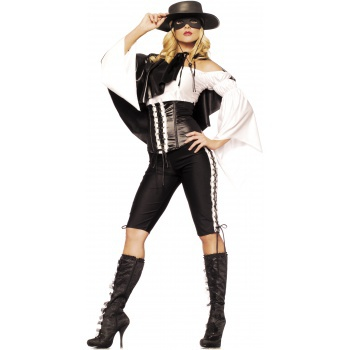 Zorro Costume Adult Womens Mexican Bandita Western Cowgirl Product    Zorro Costume For Women
