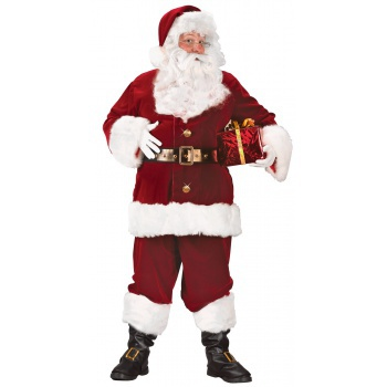 Super Deluxe Santa Suit Button Front Claus Costume image