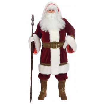 Deluxe Old Time Santa Suit European Victorian World Claus Costume image