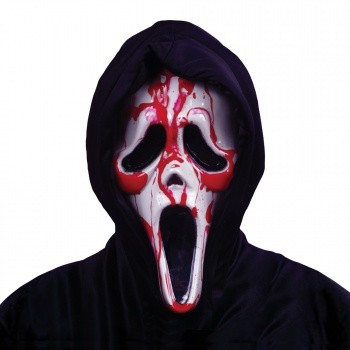 Ghost face bleeding mask scary horror movie scream costume accessory