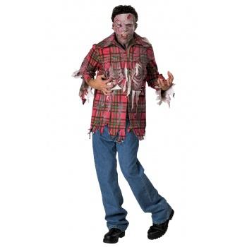 Plaid Boy zombie fancy dress costume image