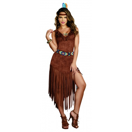 Hot on the Trail American Indian Pocahontas Costume image