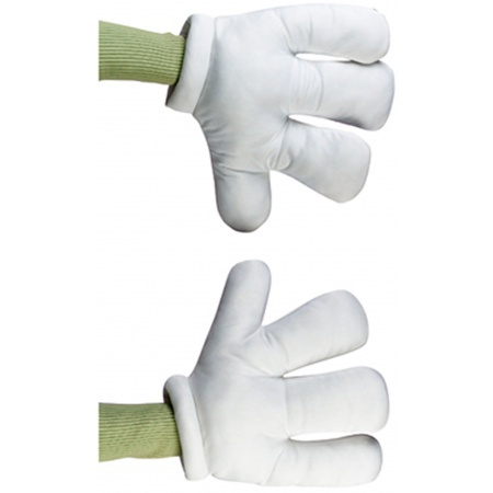 Cartoon Hands Oversize White Puffy Character Gloves Costume Accessory image