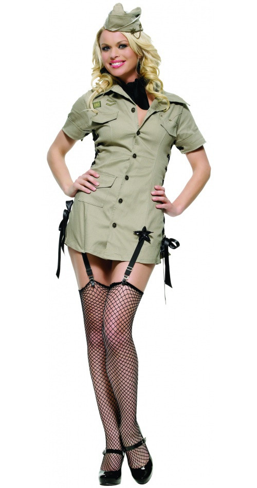 Pin Up Army Girl 50s pin up girl costume