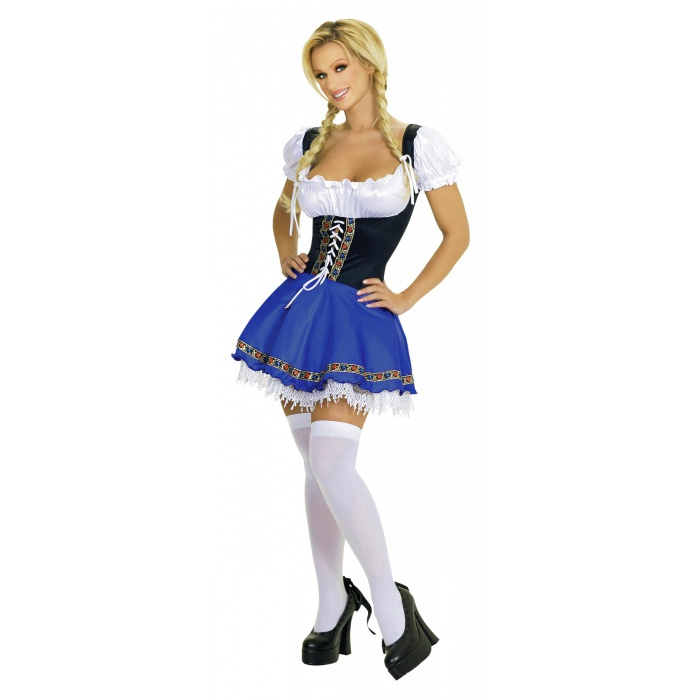 1125ML German Beer Girl Adult Costume. Description: Includes: Top, Skirt.