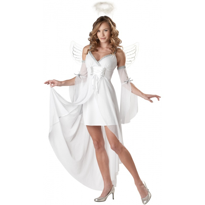Heaven's Angel White with Wings Costume