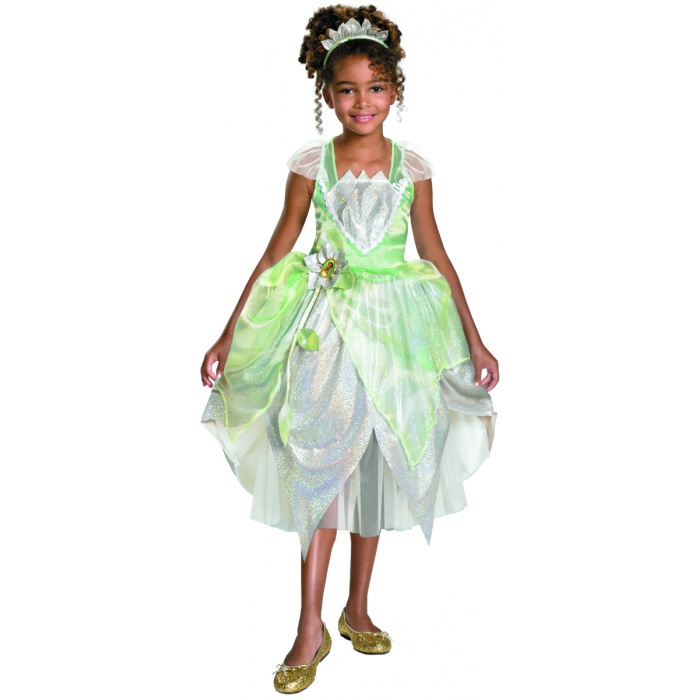 Princess Tiana Dress: Deluxe Princess Tiana Dress-Up Costume