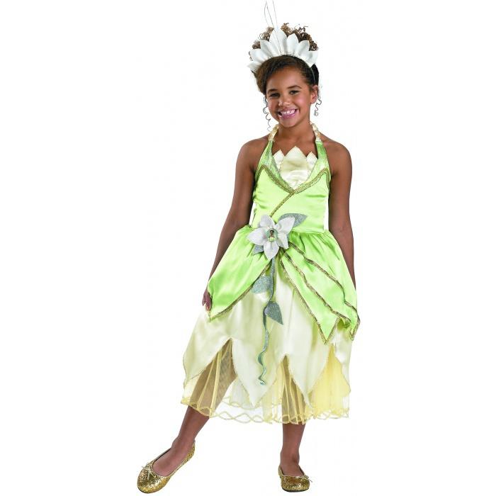 Halloween Child Costume Princess Dressup Set Disney: Deluxe Princess Tiana Dress-Up Costume