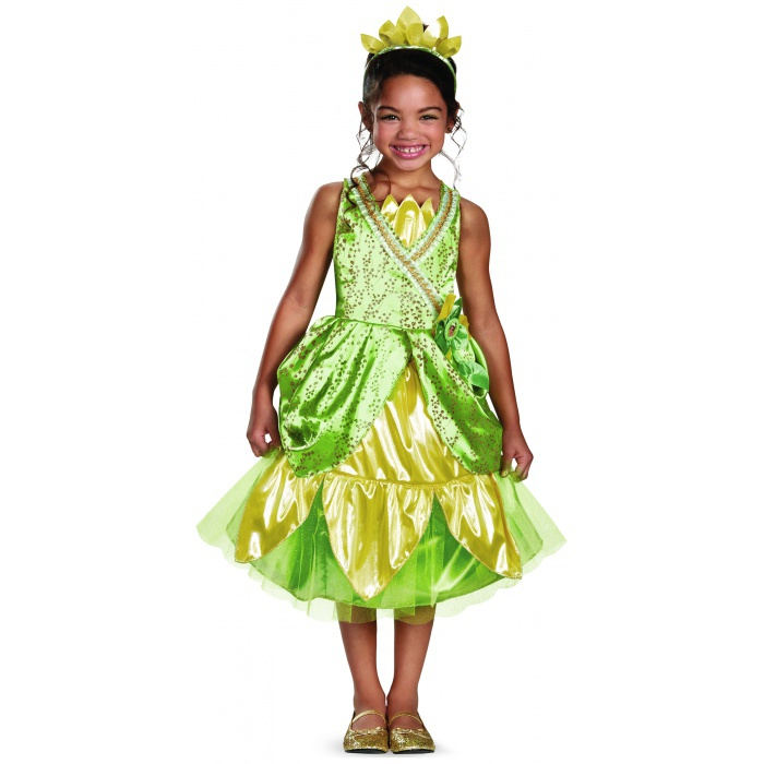Princess Tiana Dress: Tiana Sparkle Deluxe Tiana Costume