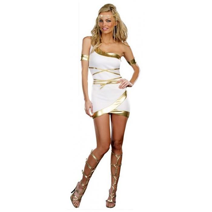 worship me greek goddess costume