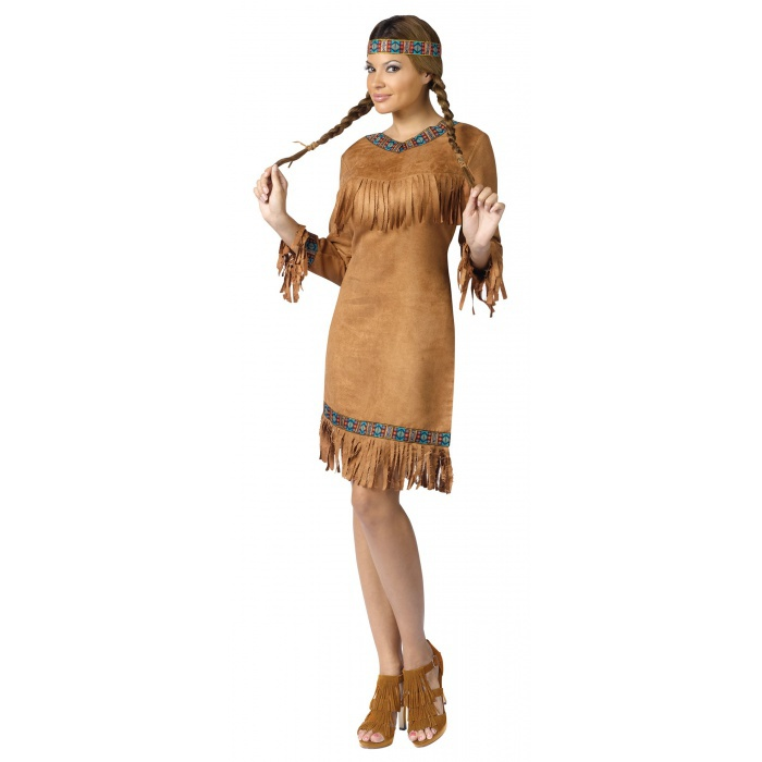 native american indian princess pocahontas costume. Black Bedroom Furniture Sets. Home Design Ideas