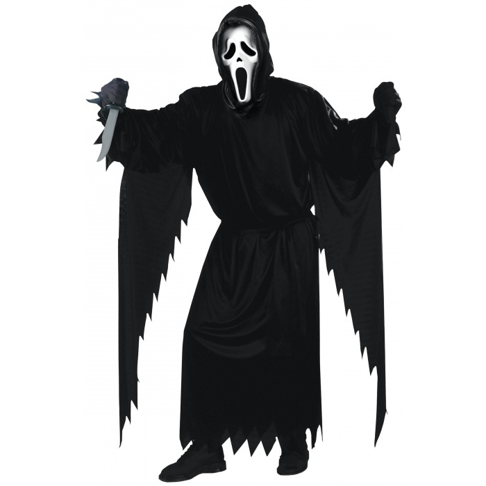 ghost face scary horror movie costume. Black Bedroom Furniture Sets. Home Design Ideas
