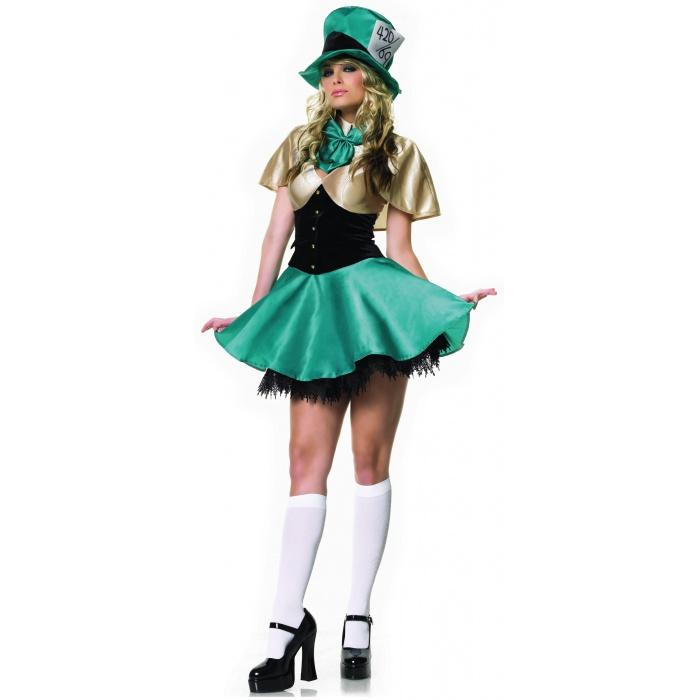 Tea Party Hostess Mad Hatter Wonderland Costume