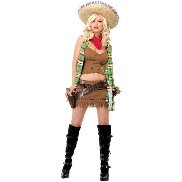 Bandita Mexican Shot Girl Western Costume