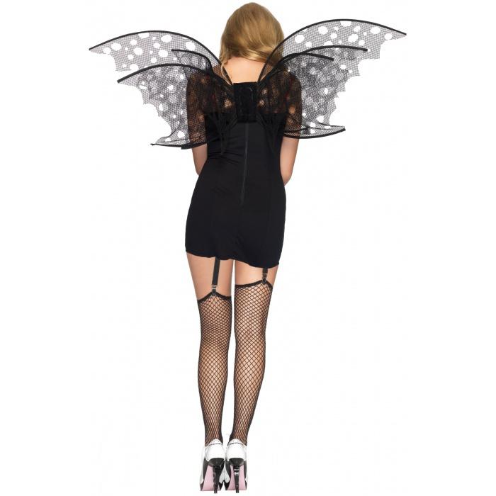 Tattered Fishnet Fairy Wings Dark Angel Gothic Bat Costume ...