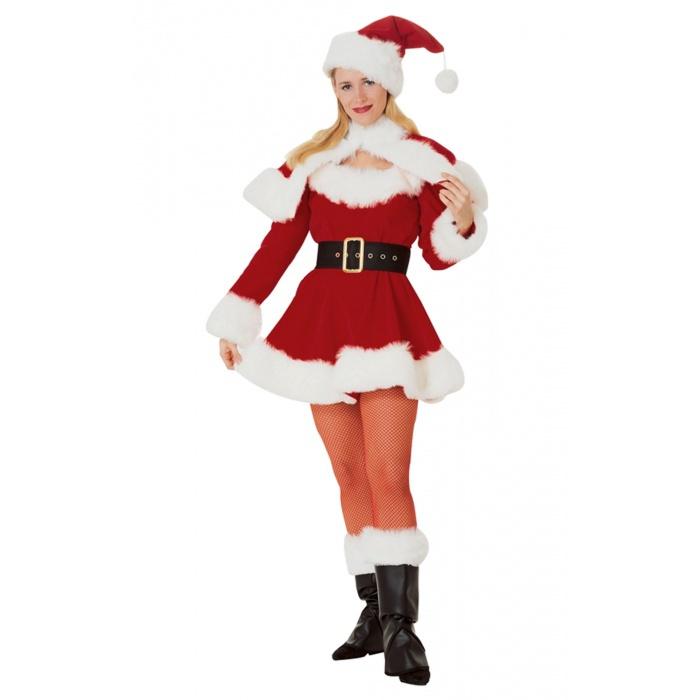 Velvet miss santa mrs claus costume