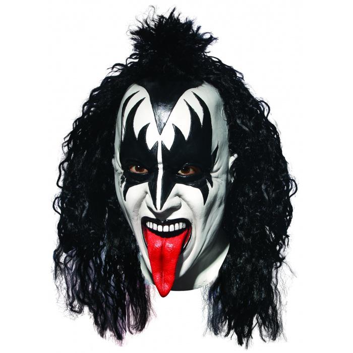 Kiss Demon Makeup: The Demon Deluxe Mask 1970's Heavy Metal Rock Band Gene