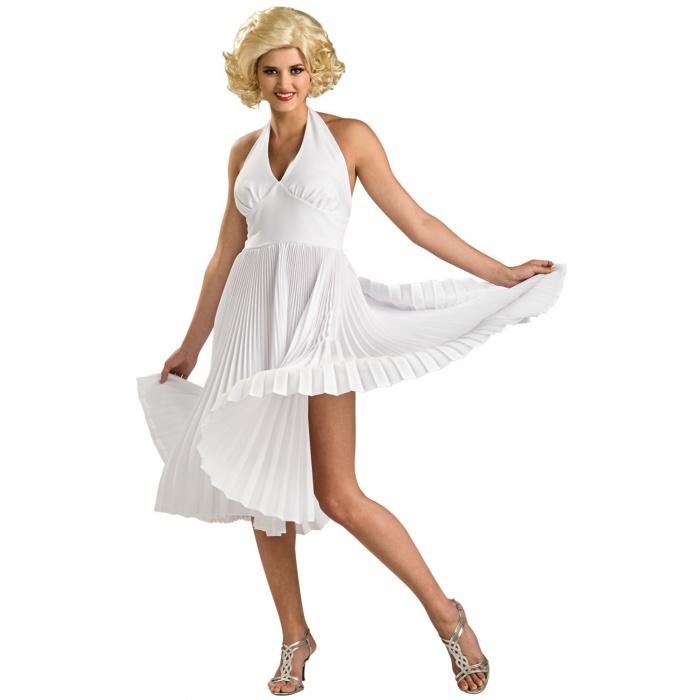 Deluxe Marilyn Monroe 1950's Hollywood Starlet White Dress ...