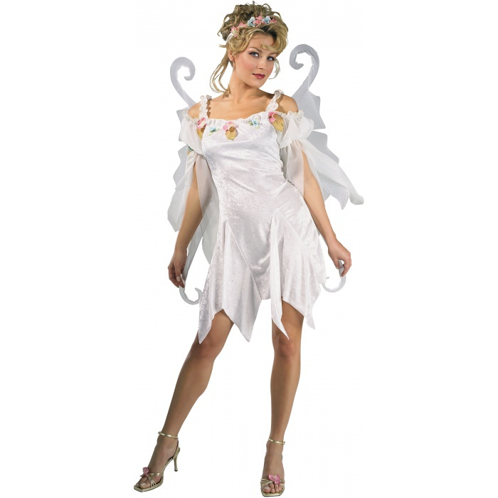 Snow Fairy White Pixie Sprite Nymph Costume