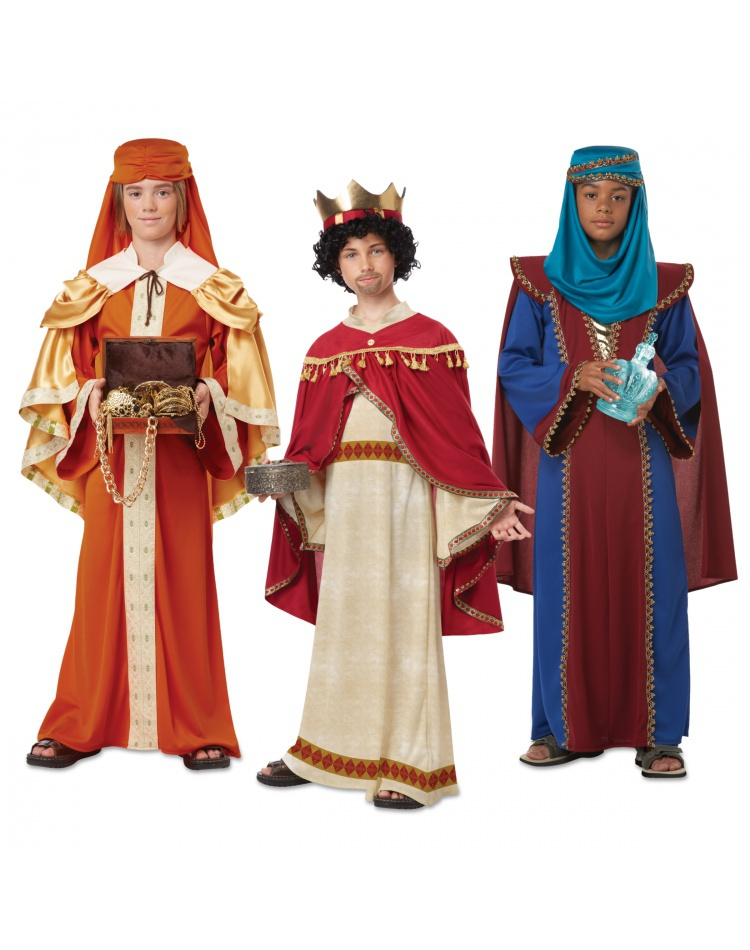 The three kings wise men costumes