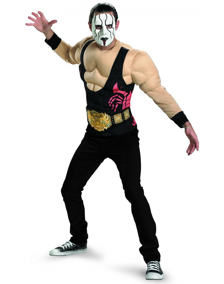 Sting Muscle Sting Wrestler Costume