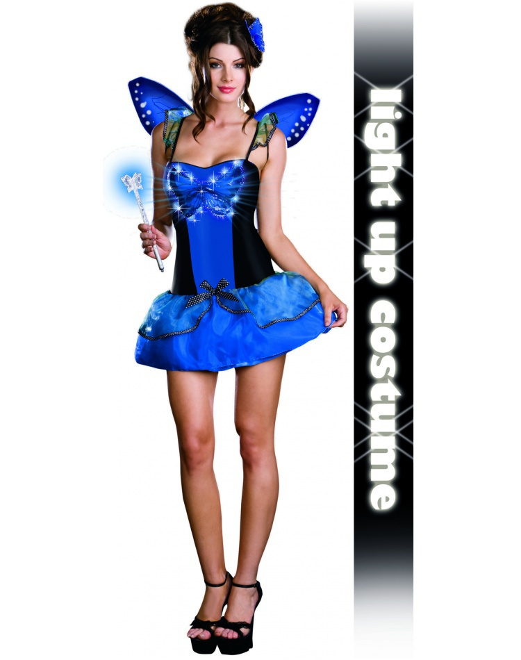 Blue Butterfly Beauty Light-Up Fairy Costume