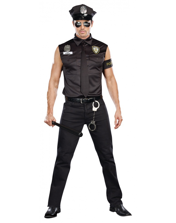 Sexy male police officer costume
