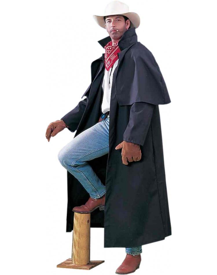 Duster Coat Cowboy Western Long Coat Fancy Dress Costume