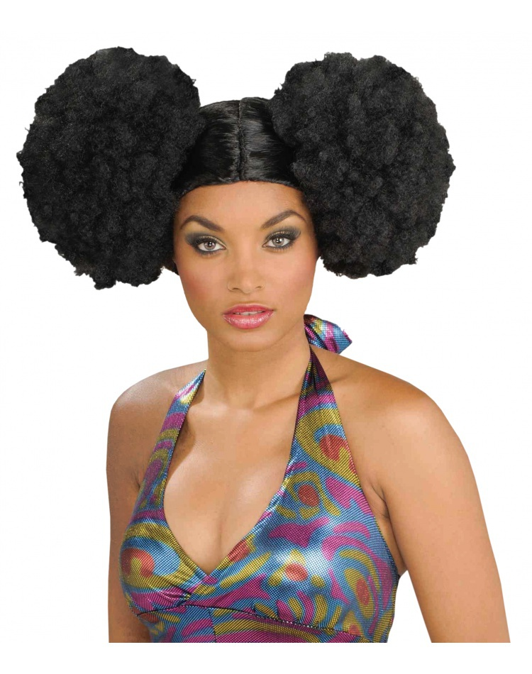 Afro Puff Wig Adult Womens 1960 s Hippie or 1970 s Cher Halloween Costume 7cfa7fa672