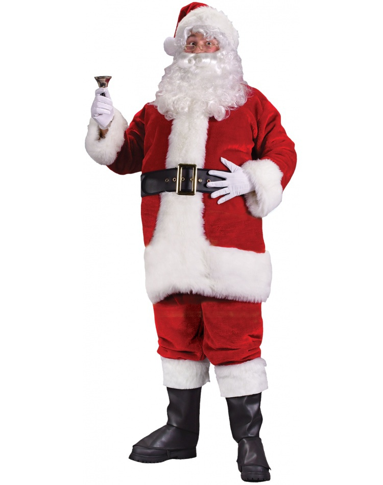 regency plush red santa suit deluxe claus costume. Black Bedroom Furniture Sets. Home Design Ideas