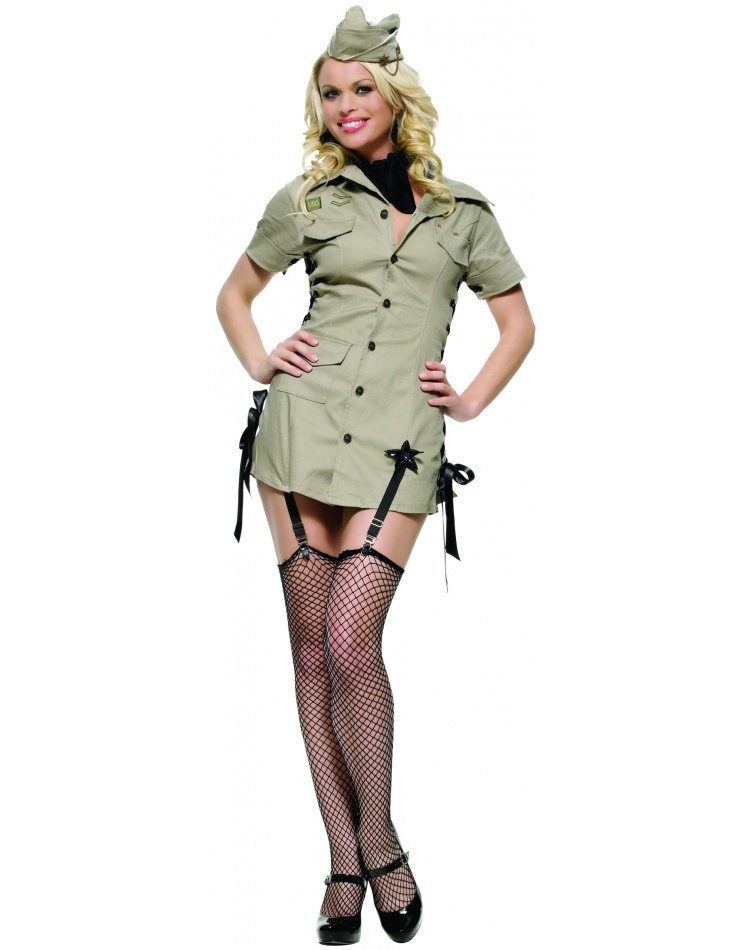 Pin Up Army Girl Costume  sc 1 st  7th Avenue Costumes & Pin Up Army Girl 50s pin up girl costume