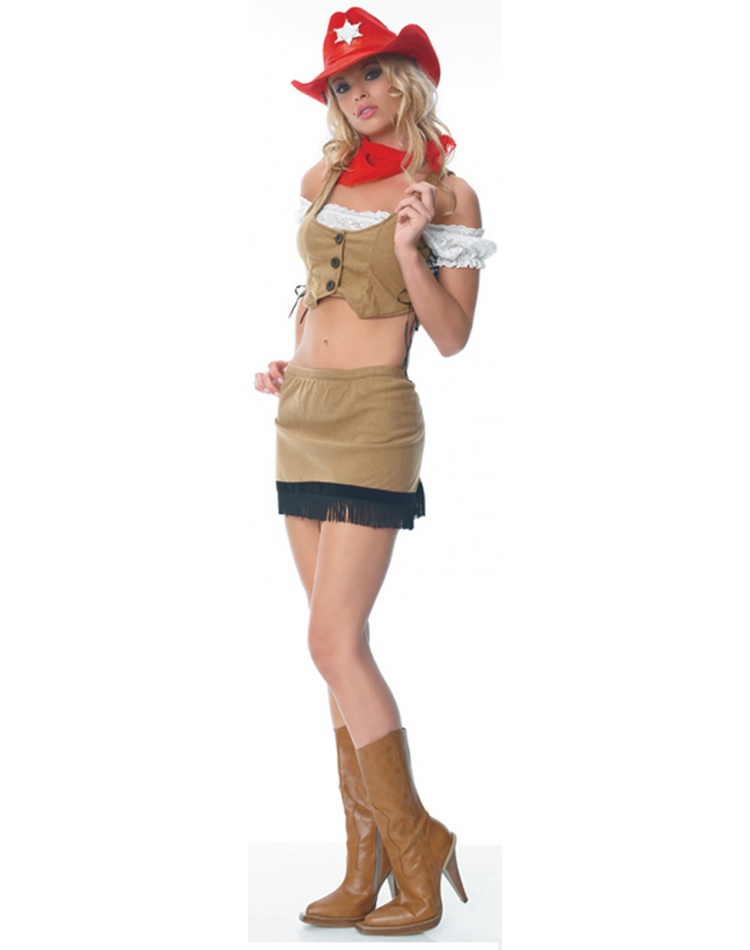 Wild West Sheriff Sexy Cowgirl Costume