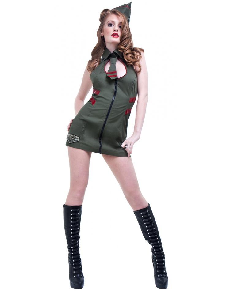 Major Mayhem Army Pin-Up Girl Costume Costume  sc 1 st  7th Avenue Costumes & Major Mayhem Army Pin-Up Girl Costume Army Pin-Up Girl Costume