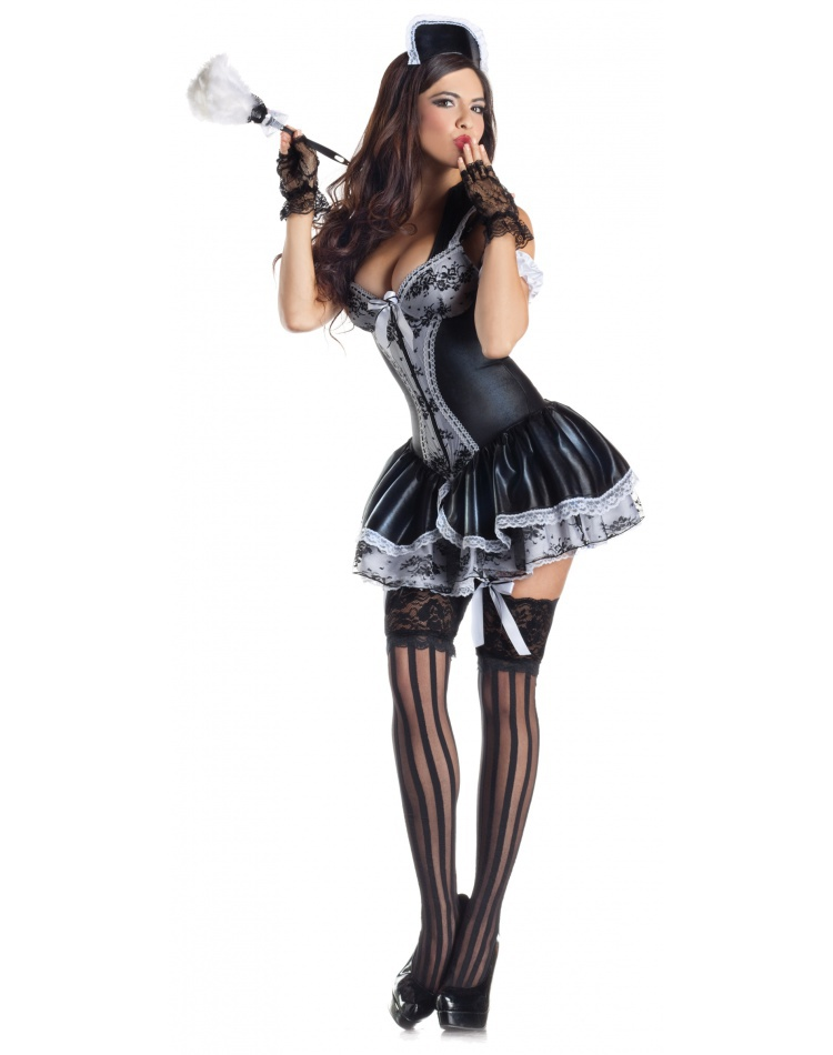 c7e0c3fc589ab French Maid Body Shaper sexy French maid costume