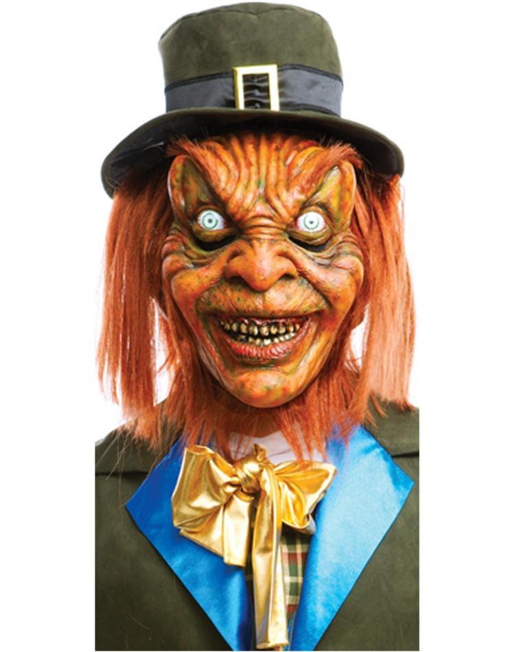 Leprechaun Mask Scary Horror Movie Costume Accessory