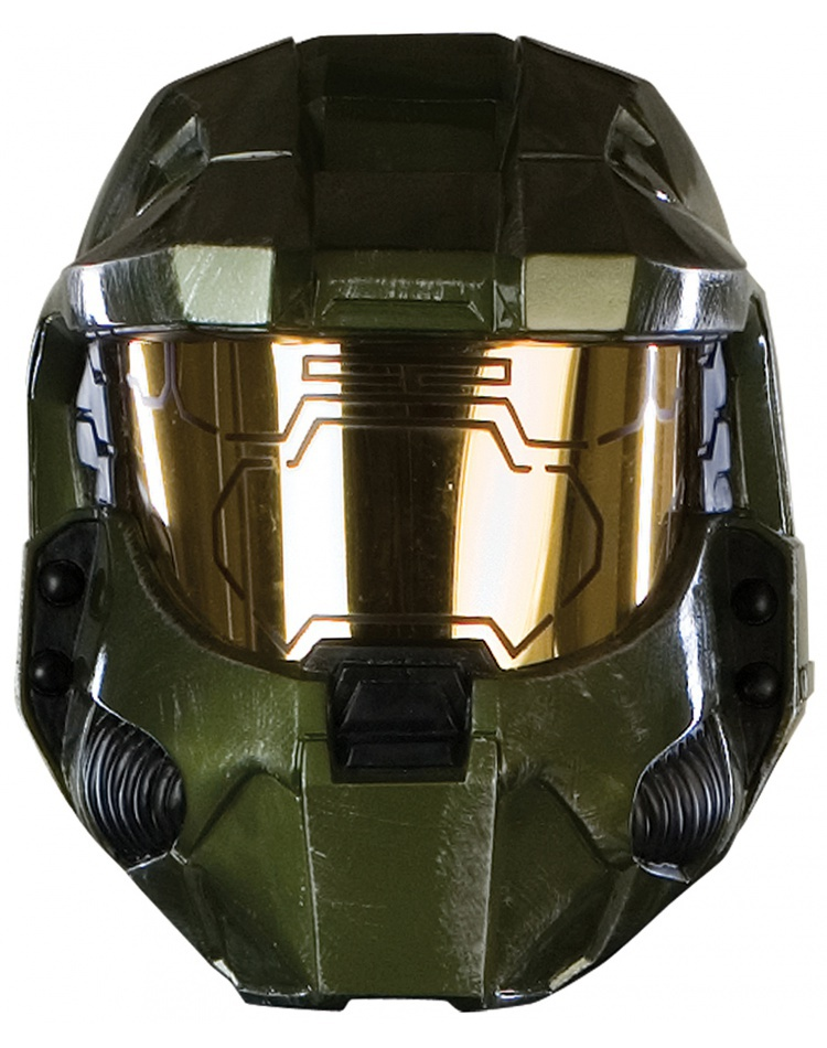 image  sc 1 st  7th Avenue Costumes & Deluxe HALO 3 Master Chief Helmet Halo Costume Accessory