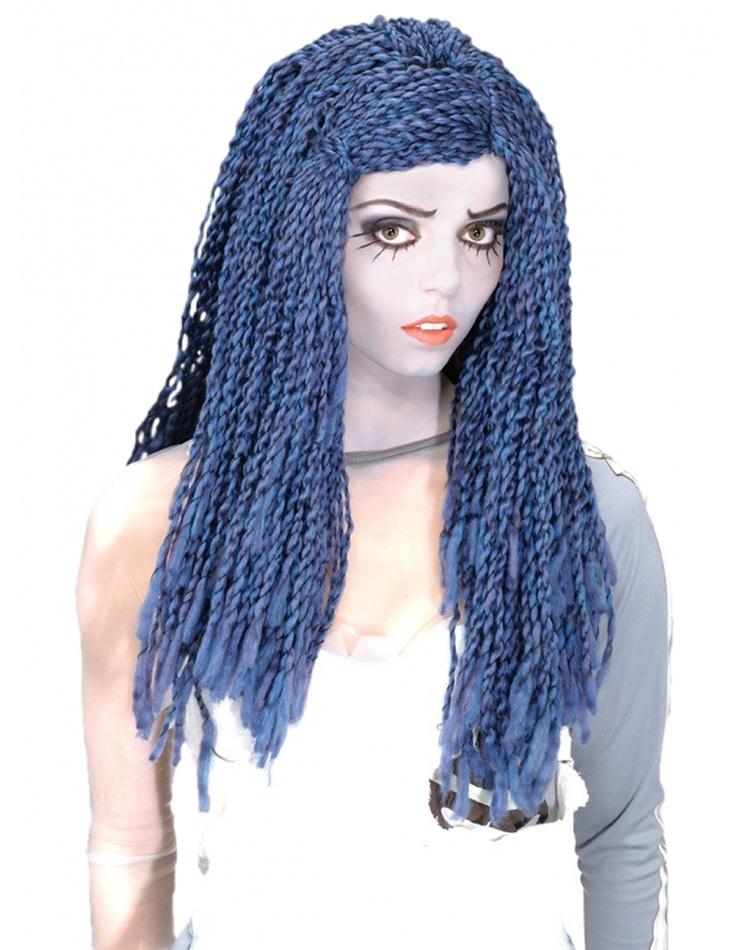 Corpse Bride Wig Blue & White Costume Accessory