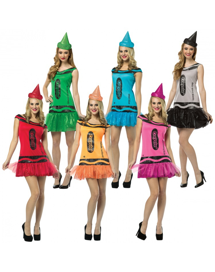 Crayola Glitz and Glitter Crayon Dress Crayola Costume  sc 1 st  7th Avenue Costumes & Crayola Glitz and Glitter Crayon Dress adult crayon costume party dress