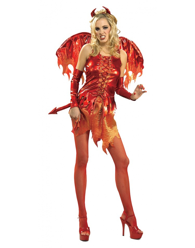 Devil On Fire Devil Costume Womens