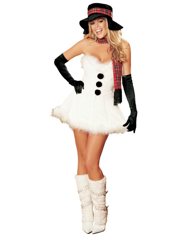 Frosty The Snow Woman Sexy Snowman Costume