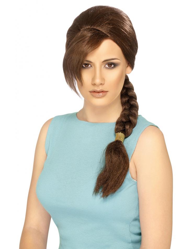 lara croft wig fancy dress costume accessory