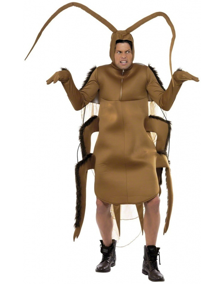Cockroach Adult Costume Gross Brown Insect Bug Roach Unisex Tunic One Size